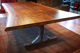 claro walnut dining table