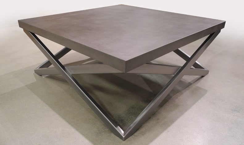 "SQUARE ""X"" COFFEE TABLE"