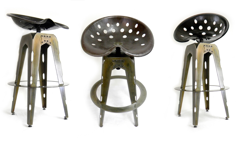 Tractor Seat Stools Or Chairs : Brandner design the sheet metal tractor seat