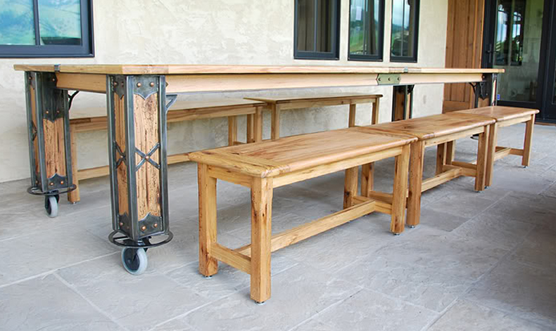 brandner design the vance harvest dining table