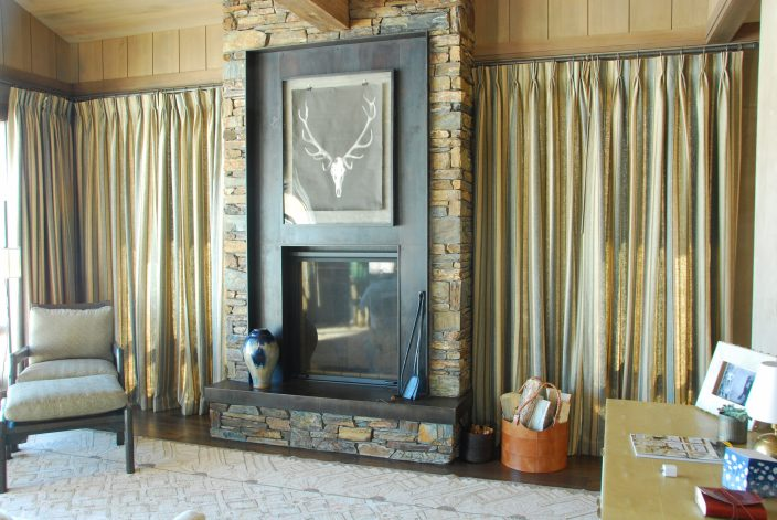 Brandner Design Antique Brown Black Lake Creek Fireplace Surround