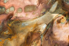 Brandner Design Blue and Copper Abstract