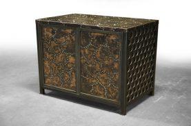Brandner Design Hammered and Stitched Cabinet