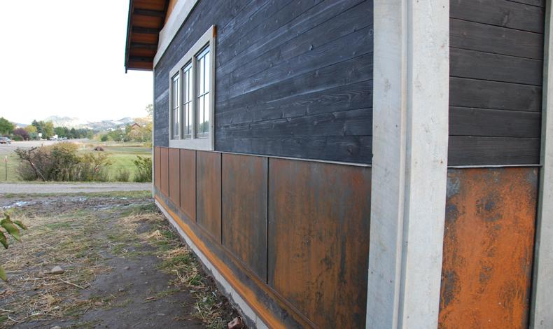 Rusty Metal Panels : Brandner design rusted metal siding