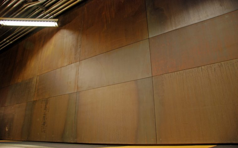 Metallic Wall Paneling : Rusted metal wall panels pixshark images