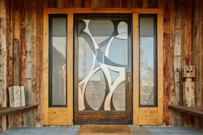 Affinity Pivot Door - abstract modern pivot door