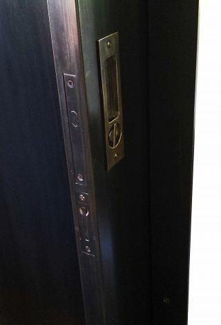 blackened steel pocket doors