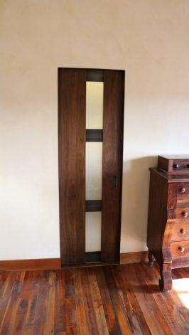 Brandner Design Walnut Glass Door