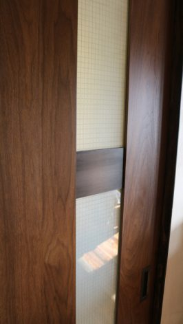 Brandner Design Walnut Glass Door