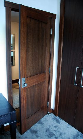 Mahogany Recessed Panel Doors