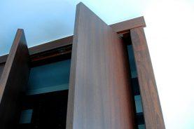 Slab Pivot Closet Doors