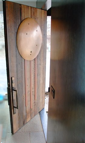 Bronze Pivot Door