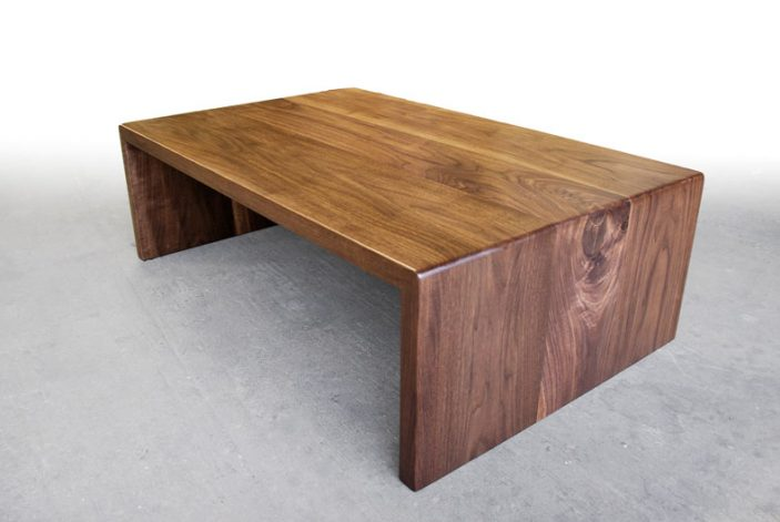 Brandner Design WALNUT WATERFALL COFFEE TABLE