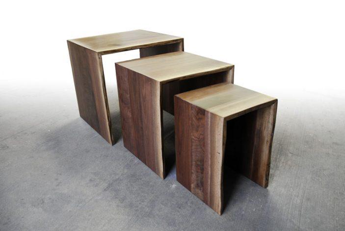 Walnut Nesting Table