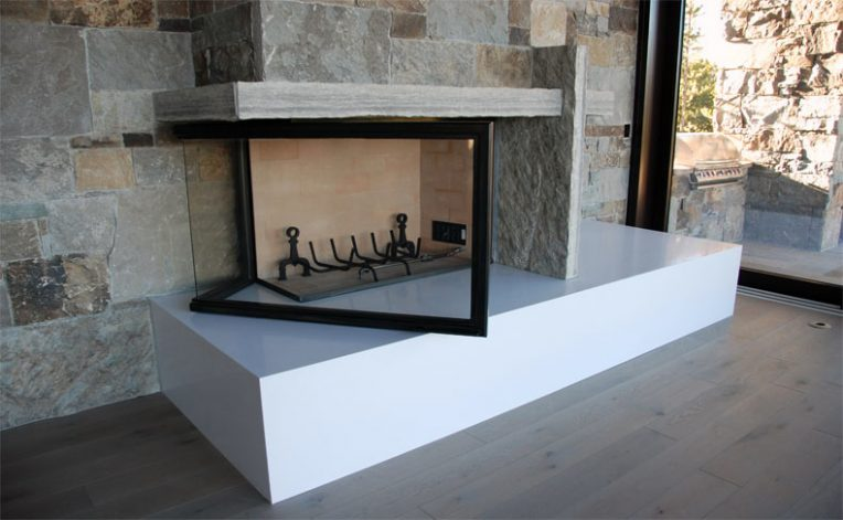 Brandner Design The L Shaped Fireplace Door