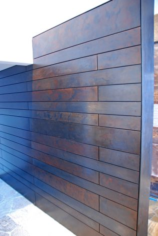 Brandner Design Antique Brown Black Floating Steel Panels