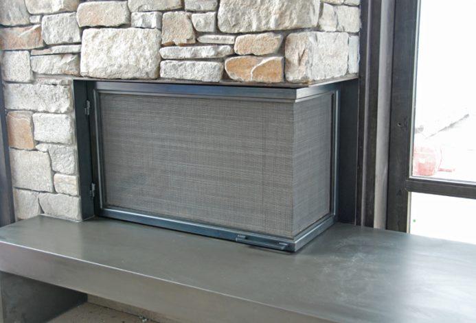 Brandner Design The L Shaped Fireplace Screen