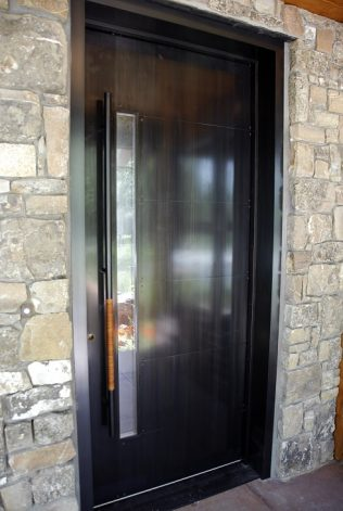 The Rockcress Door modern industrial entry door