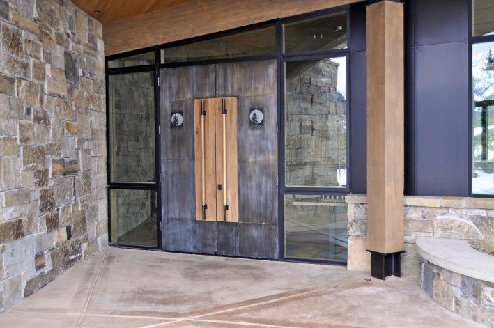 mountain modern custom doors in Moonlight Basin Big Sky MT