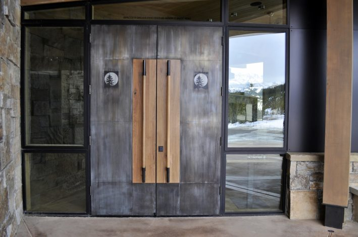 mountain modern custom doors in Moonlight Basin Big Sky MT
