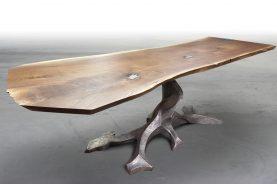 Brandner Design Walnut Slab Twisted Tree Table