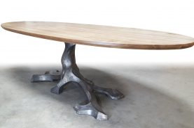Brandner Design Oval Top Twisted Tree Table