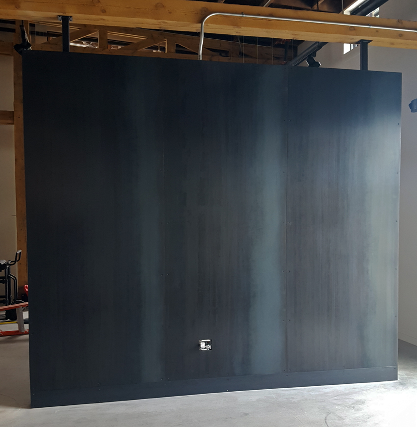 Blackened Hot Rolled Countersunk Steel Wall Panels
