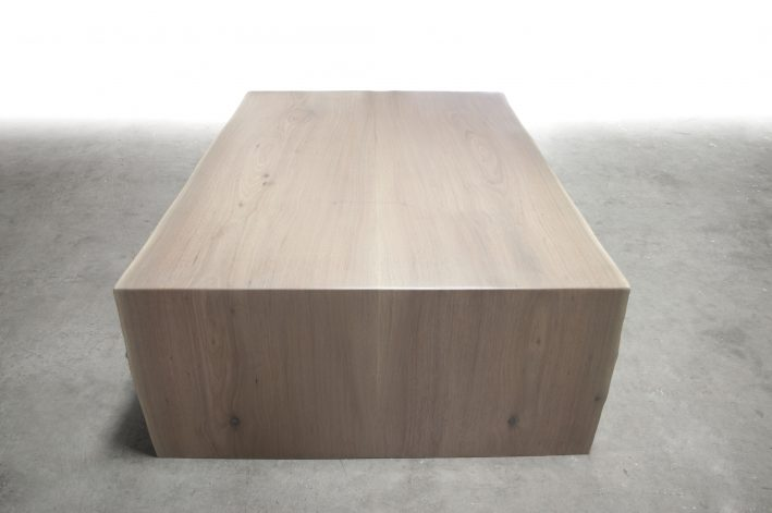 Bleached Walnut Waterfall Coffee Table