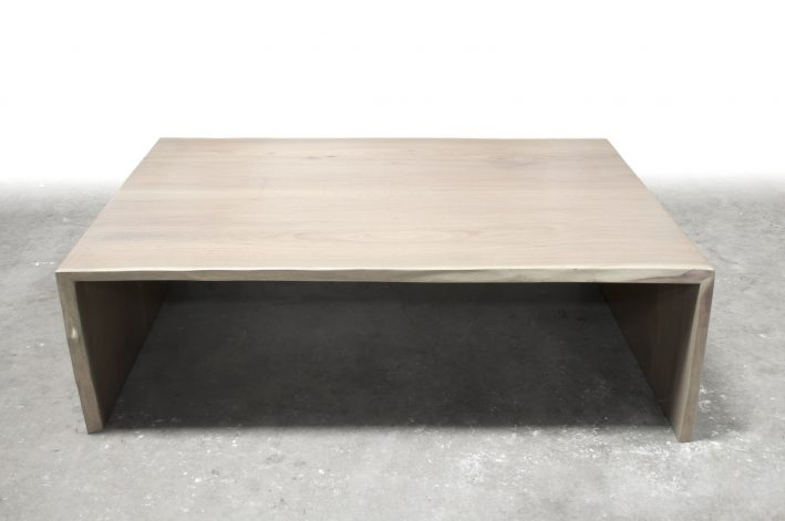 Brandner Design Bleached Walnut Waterfall Coffee Table