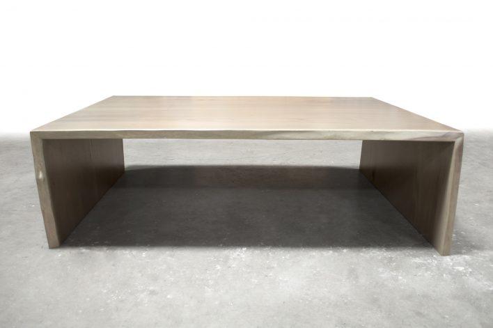 Brandner Design Bleached Walnut Waterfall Coffee Table