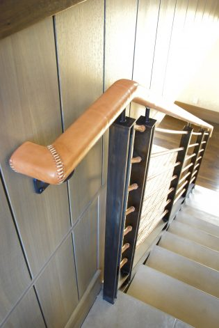 Leather Wrapped Stair Railings