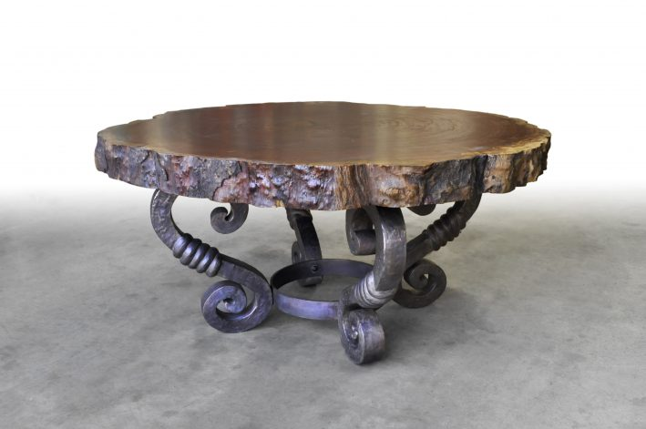 Bronze Scroll Table