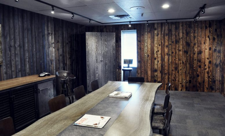 Brandner Design Shou Sugi Ban Blue Wall Panels