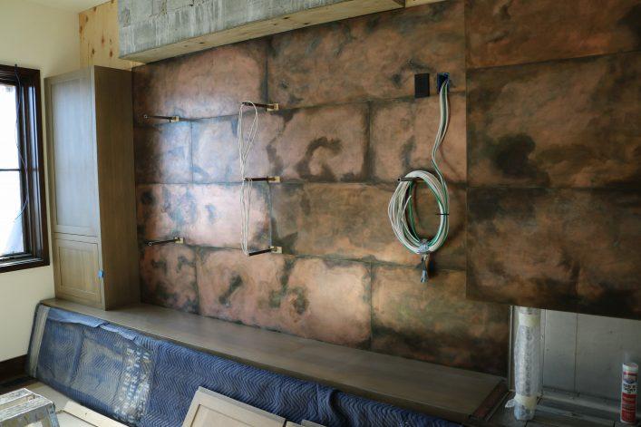 Brandner Design Burnt Copper Fireplace Surround