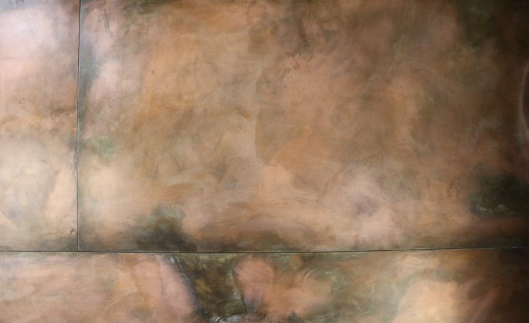 Brandner Design Burnt Copper Steel Wall Panels