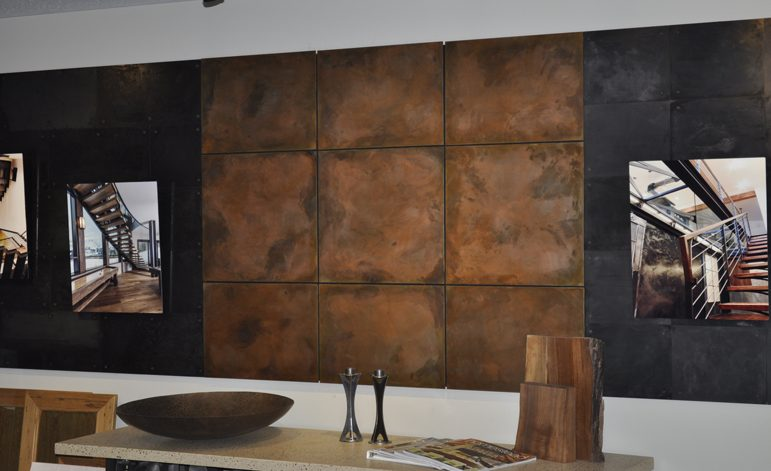 BURNT COPPER STEEL WALL PANELS