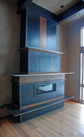 Brandner Design Riveted Steel Accent