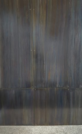 Brandner Design Blue Heat Countersunk and Floating teel Wall Panels