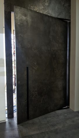 Brandner Design Etched Steel Pivot Door