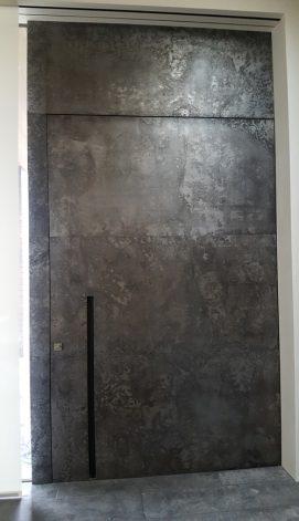 Brandner Design Etched Steel Pivot Door
