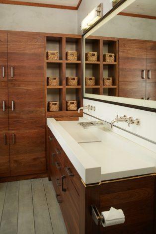 Brandner Design Walnut Cabinet/Cubbies