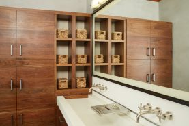 Brandner Design Walnut Cabinet/Cubbies