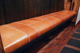 Brandner Design Leather Bench
