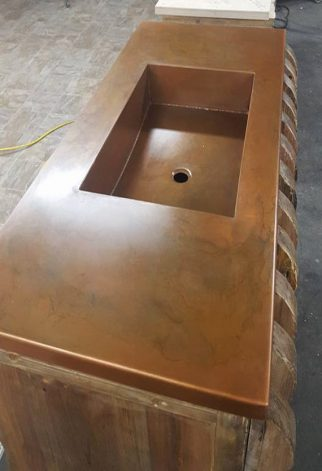 Brandner Design Integral Copper Sink