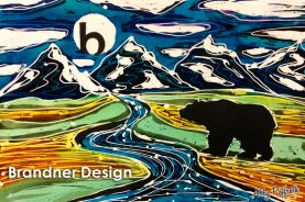 Hand Painted Batik by Abby Paffrath of Jackson Hole WY