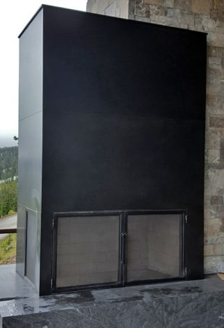 Brandner Design Mountain View Exterior Fireplace