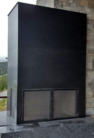 Brandner Design Mountain View Exterior Fireplace