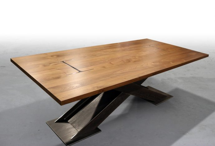 "Brandner Design ""X"" I Beam Table"