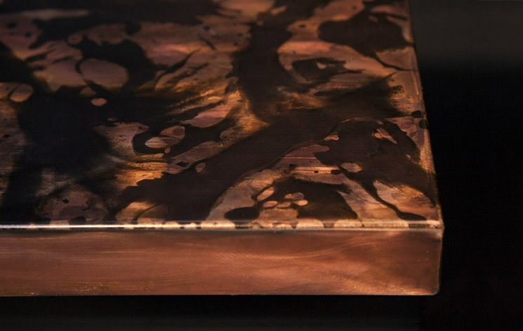 Brandner Design Formed Copper with Brown Veil Countertop