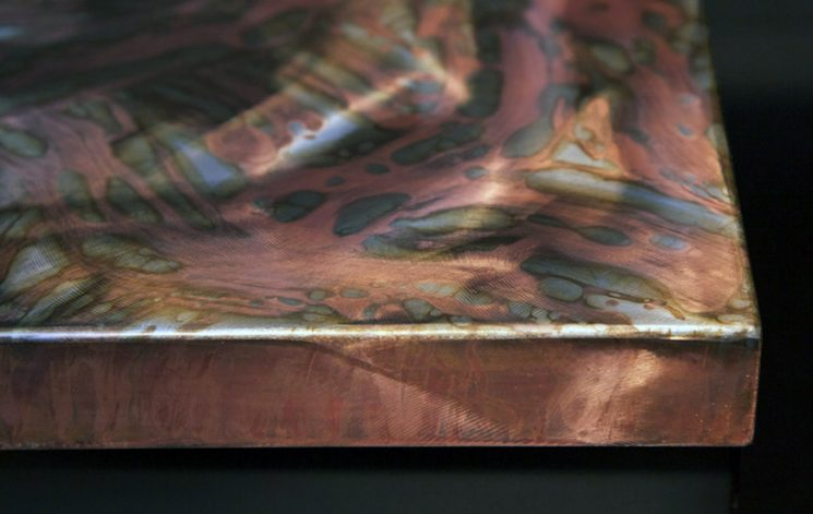 Brandner Design Formed Steel with Abstract Copper Patina Countertop